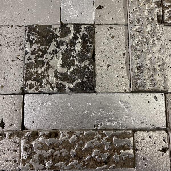 Piastrelle mosaico metallo